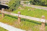 Barrière de parking bois - Hauteur hors-sol (cm) : 85 cm
