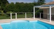 Barrière de piscine transparente - Panneau 100 ou 200 - Portillon avec 2 poteaux