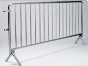 Barrière de police en acier - Longueur (mm) : 2500