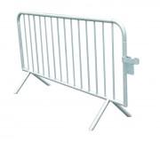 Barrière de police en acier galvanisé - Acier - 14 ou 18 barreaux