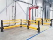 Barrière de protection industrielle intérieur - Résiste à un choc de 5 T à 10 Km/h