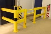 Barrière de protection modulable Extérieure - Matière : Acier galvanisé et revêtu - Longueur : 50 à 200 cm - Coloris : jaune