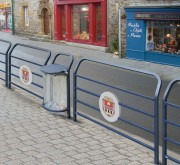 Barrière de rue avec logo de ville - 2 Longueurs disponibles (mm) : 1000 - 1500
