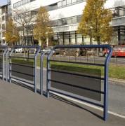 Barrière de rue vitrée - 2 Longueurs disponibles (mm) : 1000 - 1500