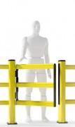 Barrière de sécurité battante pour piétons - Matériel de fixation inclus