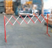 Barrière de sécurité extensible 3 mètres - Longueur : 3 mètres - Hauteur : 1 mètre