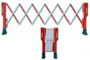 Barrière de sécurité extensible plastique - Barrière réglable de 3 mètres maximum