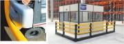 Barrière de sécurité industrielle modulable - Barrière flexible pour séparation piétons chariots
