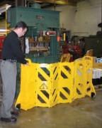 Barrière de sécurité mobile - Dimensions pliée : 600x350x1000 mm - 4 mètres de long