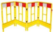 Barrière de sécurité pliable - Barrière  disponible en 3 ou 4 portes