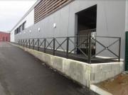Barrière de sécurité protectrice - Fabrication sur mesure - Longueur : 1m, 1m50 ou 2m