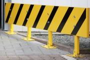 Barrière de sécurité réglable en hauteur - Acier - Longueur de 2400 mm