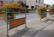 Barrière de sécurité urbaine 1500 x 40 mm - Encombrement (mm) : 1500 x 40