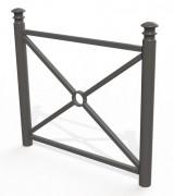 Barrière de ville acier - Hauteur : 1000 mm - à sceller ou sur platines