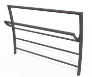 Barrière de ville acier assis debout - Hauteur hors sol : 1030 mm - A sceller ou sur platines