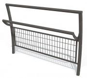 Barrière de ville acier assis debout grillagé - Longueur totale : 1500 mm -Hauteur hors sol : 1030 mm
