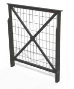 Barrière de ville croix de st andré cadre grillagé - Hauteur : 900 mm - A sceller ou sur platines