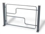 Barriére de ville en acier L 1500 mm - Encombrement (mm) : 1500 x 80