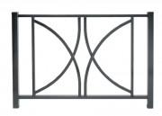 Barrière de ville en tube acier - Longueur (mm) : 1100 - 1500