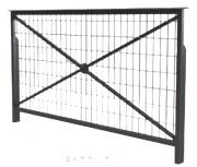 Barrière de ville grillagée longueur 164 à 84 - Hauteur : 113 cm - Longueur : 164 - 84 cm - Poids : 16 - 24kg