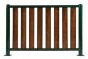 Barrière de ville lames en bois - Longueur (mm) : 1000 ou 1500