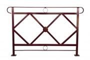 Barrière de ville tube acier - Longueur (mm) : 1000 - 1500
