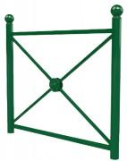 Barrière de ville vert - Hauteur : 128 cm - Longueur : 100 - 150 cm - Poids : 23 - 26kg