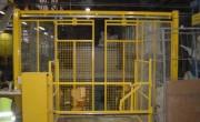 Barrière écluse automatique à 2 garde-corps - 2 garde-corps liés par arbre de transmission et un couple de pignons