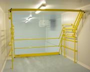 Barrière Ecluse Basculante de sécurité - Echapper au débattement de la porte