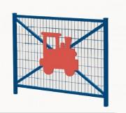 Barrière école en acier - Dimensions (L x H) : 1470 x 1206 mm