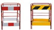 Barrière en acier avec lices en polyéthylène - Barrière au design unique en acier avec lices en polyéthylène