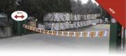 Barrière extensible avec enrouleur - Dimension (m) x H (cm) : 20 x 30