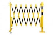 Barrière extensible avec poteau en acier - Acier - Largeur : 3600 mm ou 4000 mm