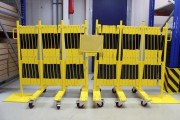 Barrière extensible avec roues