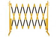 Barrière extensible avecrouleau et fixation murale - Acier - Longueur : 3,6 m ou 4,0 m