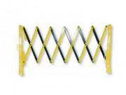 Barrière extensible en plastique - Hauteur : 1 m  -  Poids 7 Kg