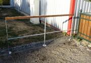 Barrière grands espaces - Armature et pied central en acier plat de 40