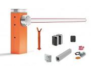 Barrière levante automatique 7m kit complet - Lisse blanche 69 x 92 x 3150 mm + Lisse blanche 69 x 92 x 4150 mm