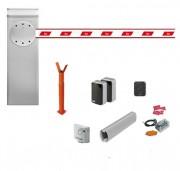 Barrière levante automatique inox 6m kit complet - 2 lisses blanches en aluminium 69 x 92 x 3150 mm