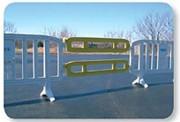 Barrière plastique pour extension - Longueur : 1,55 m   -   Économique