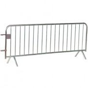 Barrière police - Longueur : 2m ou 2.50m - 14 ou 18 barreaux