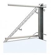 Barrière sécurité escalier double bras - Largeurs possibles de 800 à 1200 mm