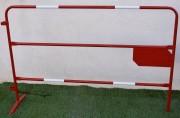 Barrière TP de chantier personnalisable - Barrière TP plaque latérale