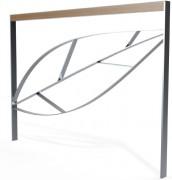Barrière urbaine motif feuille - Longueur : 144 cm - Hauteur : 102 cm