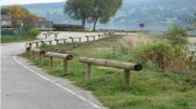 Barrières d'accès en bois - Dimensions barre : Diamètre 16 cm - Longueur 3 m