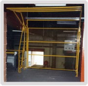 Barrières écluses coulissantes cadreur - Protection grillagée de façade