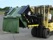 Basculeur retourneur de bac 660 a 1100 L - Pour chariot élévateur - Contenance.bac:660 à 1.100 L