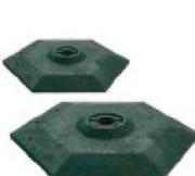 Base noire pour des clôtures grillagées - Base lourde 100% PVC recyclé