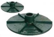 Base pour barrière de signalisation - Base disponible pour support du poteau : base standard noire  - base lourde