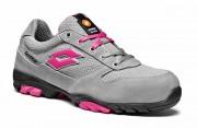 Basket Lotto Works 500 W S1P SRB Glacine grey pink shock - Suède - Tissu - Norme EN 12568:2010 - Pointure : de 36 à 42
